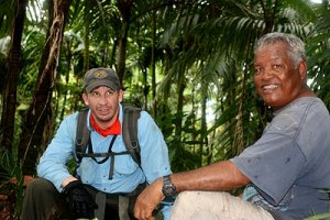 derek and joe resting from hike palau bentprop.org