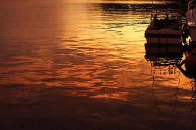 golden sunset at sams tours palau