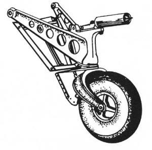Line drawing of hellcat aircraft wheel