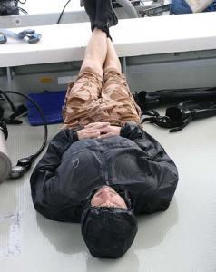 resting between dives