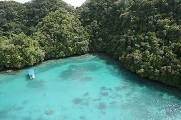Azure waters of Palau