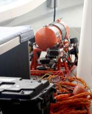 This year's Dingar, an ROV built by stockbridge students for mission to palau with bentprop.org