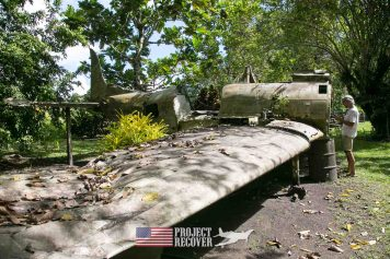 WWII airplane wreck- Vilu War Museum - Honiara - Nose gunners view Japanese WWII bomber - Vilu War Museum - Honiara - while looking to find Solomon Islands MIAs - Project Recover and BentProp Project are committed to bringing the MIA home. Photos by Harry Parker Photography.com