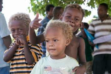 Happy village children we met during Solomons MIA Search - Project Recover and BentProp Project are committed to bringing the MIA home. Photos by Harry Parker Photography.com