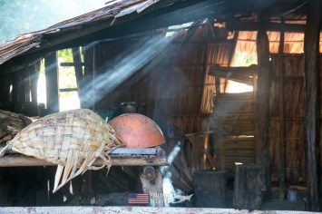 Morning smoke from cooking hut in Solomon Islands during Solomons MIA Search - Project Recover and BentProp Project are committed to bringing the MIA home. Photos by Harry Parker Photography.com