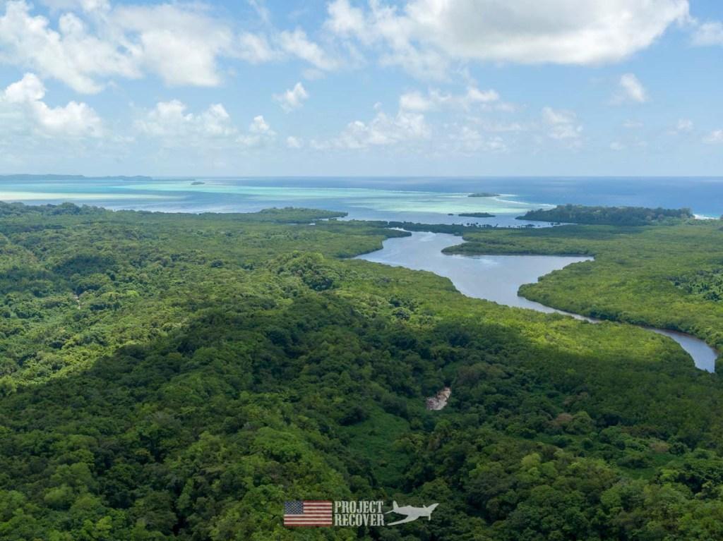 Aerial view Peleliu Island