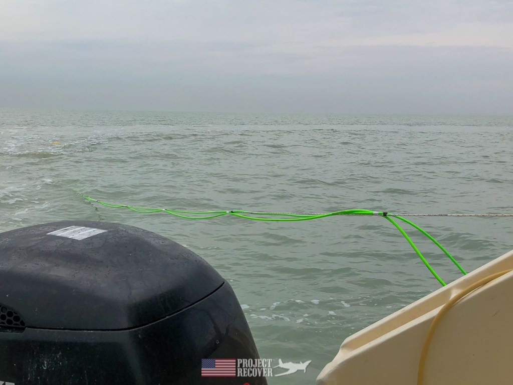 Project Recover tows side-scanner in search of A-6E wreckage in Kuwait. Photo Credit: UDEL/Project Recover