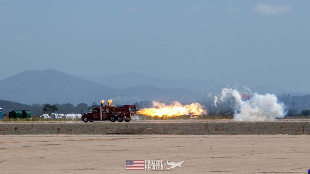jet truck on runway