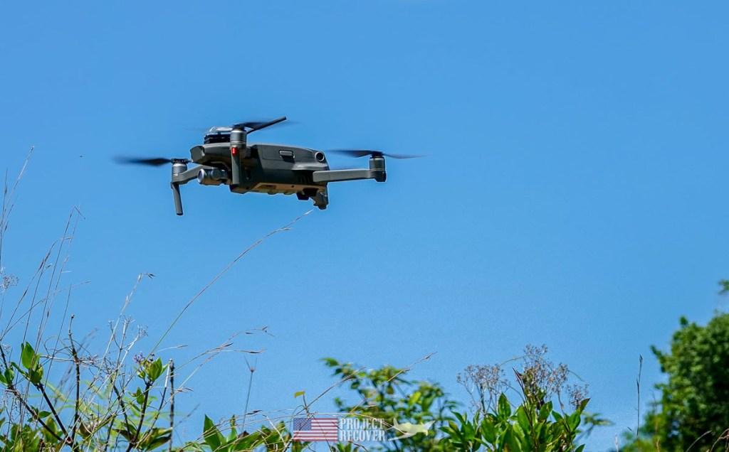 drone over palau jungle