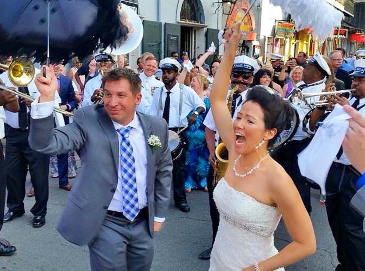 with Derek Abbey, Ph.D. Couple celebrates wedding