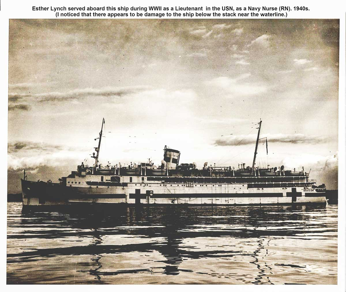The USNHS Rescue hospital ship of the 1940s