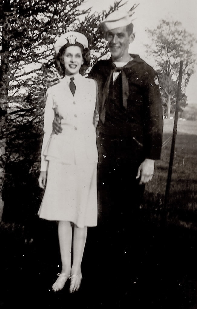 1943 - Lt. Esther L. Hilton and her brother