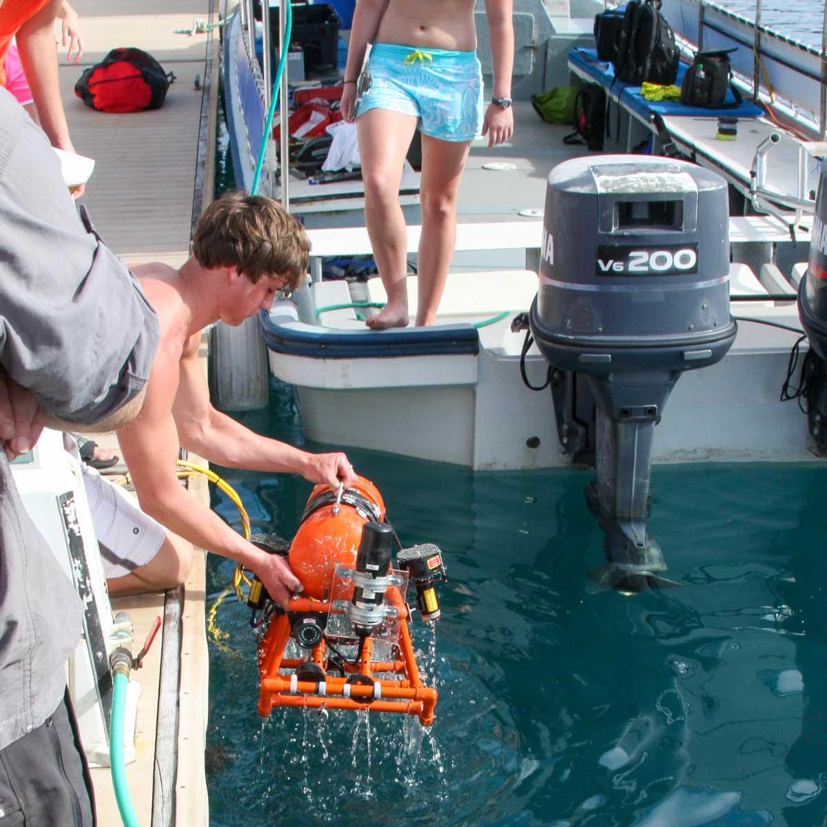Retrieving the ROV