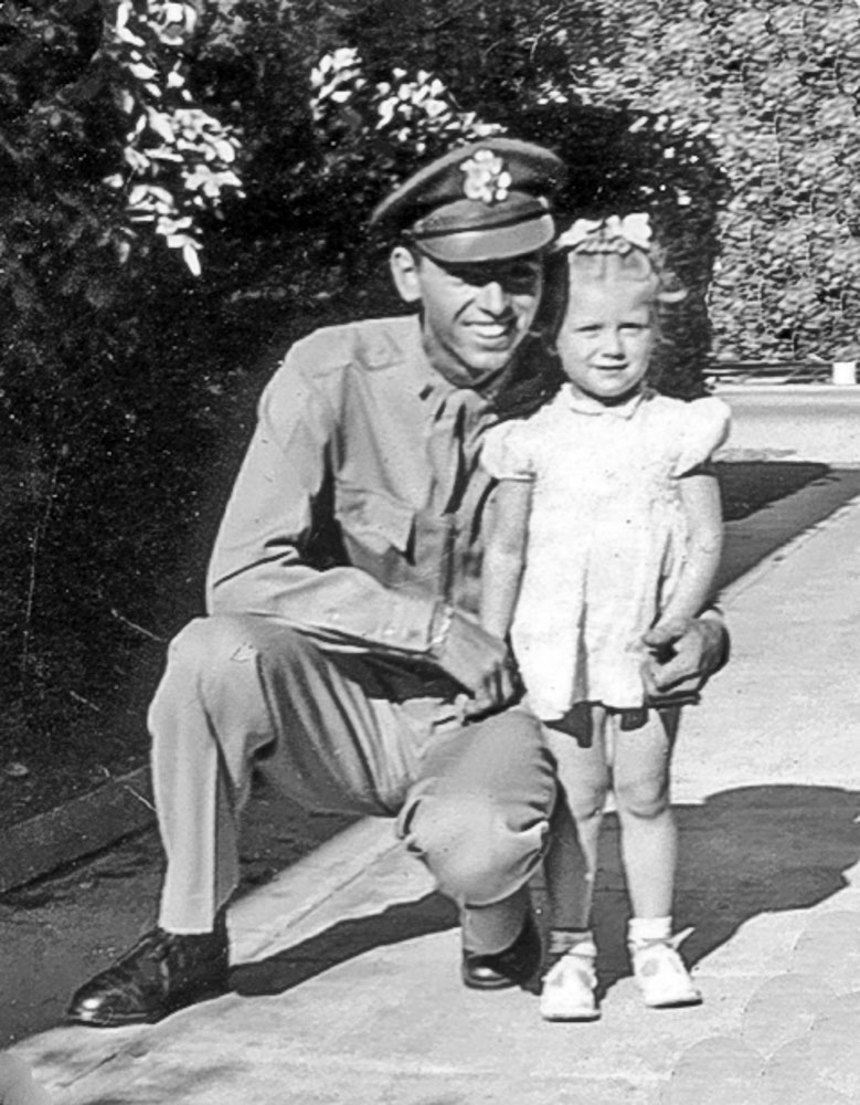 2nd Lt. Thomas V. Kelly, Jr. with cousin Judy Thanksgiving 1943