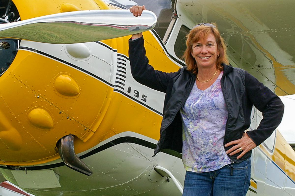 Val and her Cessna 195