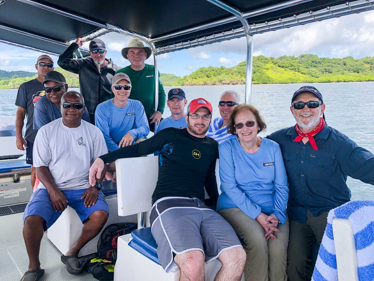 Adam Gray Family, Palau 2019