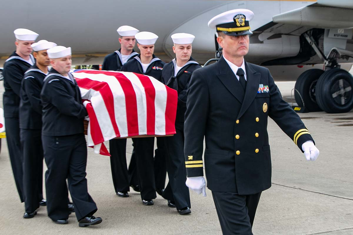 Navy Honor Guard Carry Walter E. Mintus