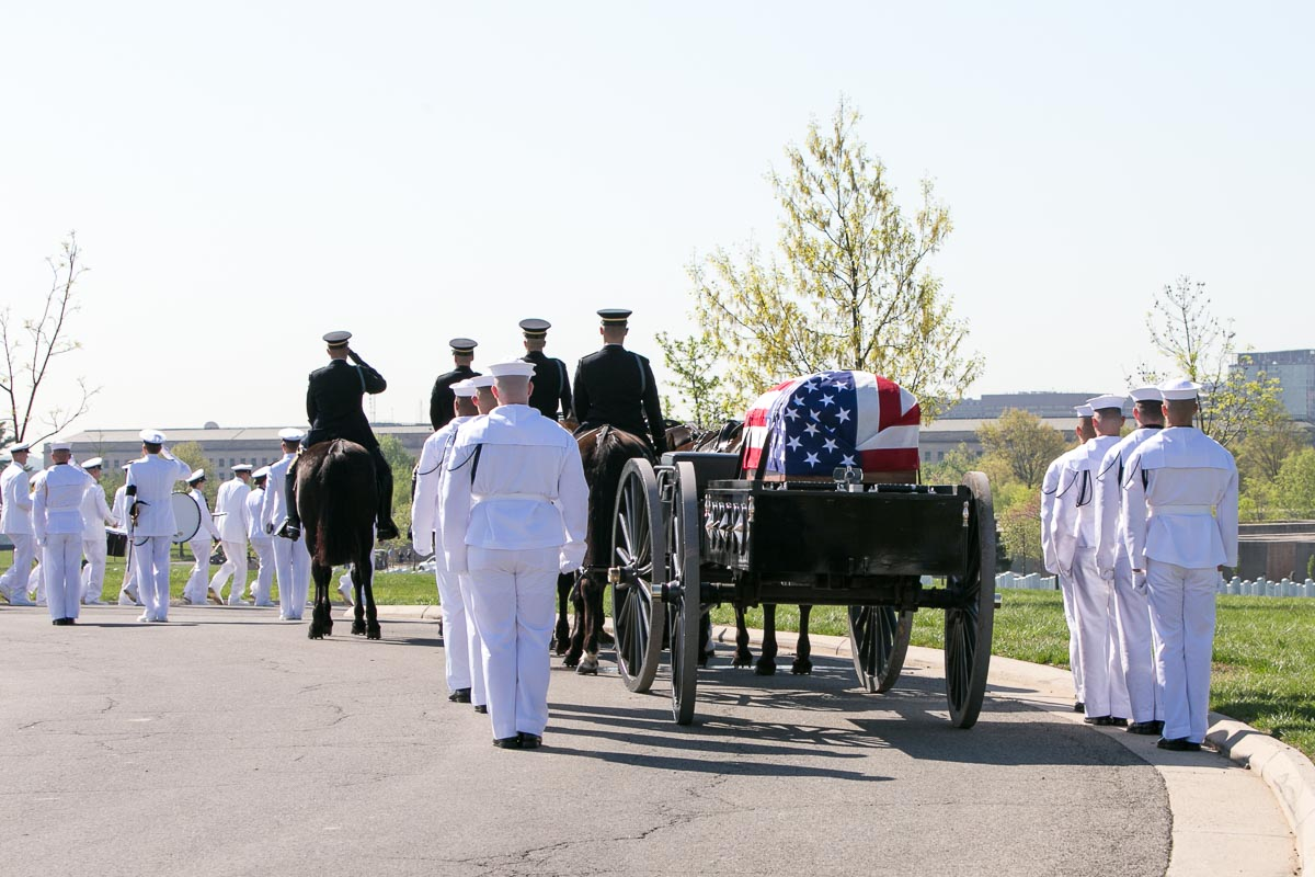 Band, Honor Guard and Horse Drawn Caisson Procession