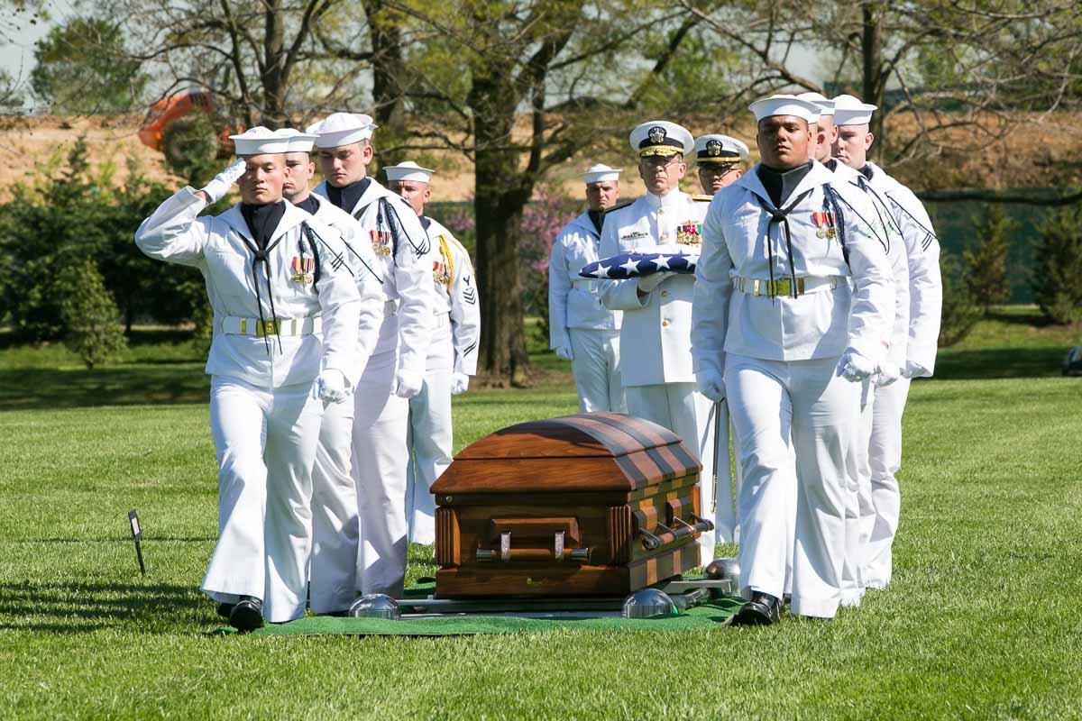 Honor Guard Salutes Family