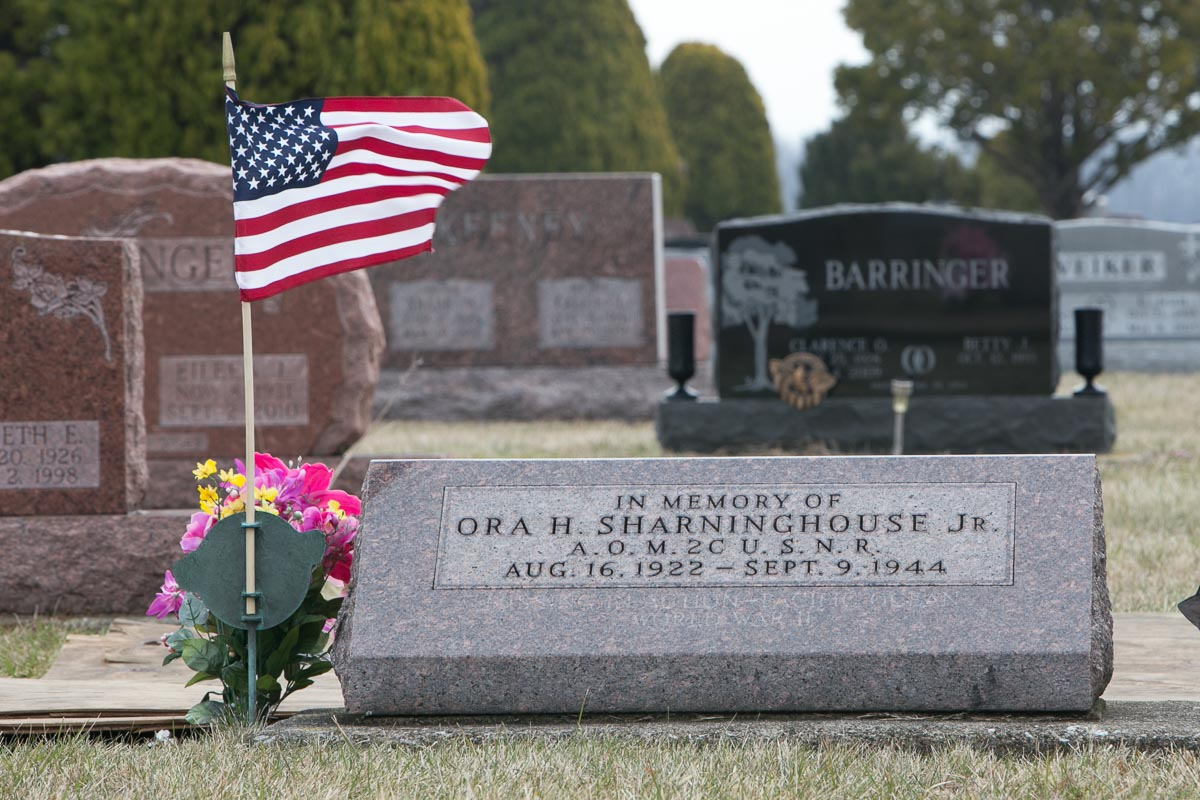 Ora H. Sharinghouse headstone and final resting place
