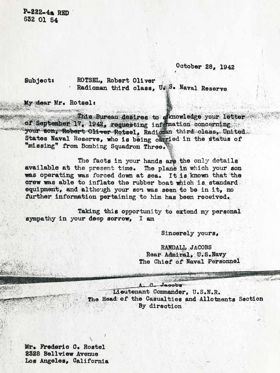letter from USNR