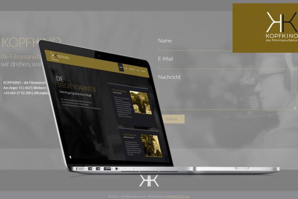 Neue WebSite für KOPFKINO - die Filmmanufaktur