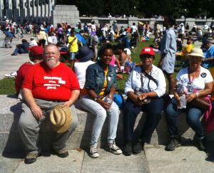 SARN treasurer Dick Paddock at the 50th anniversary of the March on Washington, August 24, 2013, Washington, DC.