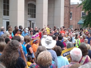 """Taking the Dream Home to Chapel Hill"" rally in downtown Chapel Hill (August 28, 2013)"