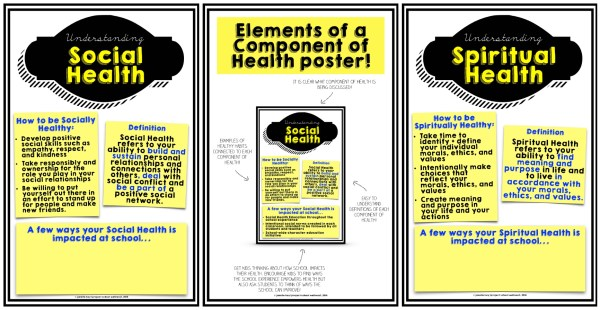Components of Health Example Posters