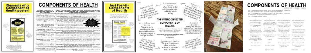 Components of Health Lesson Plans