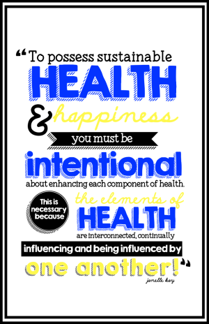 Components of Health Posters - Quote about Health.001