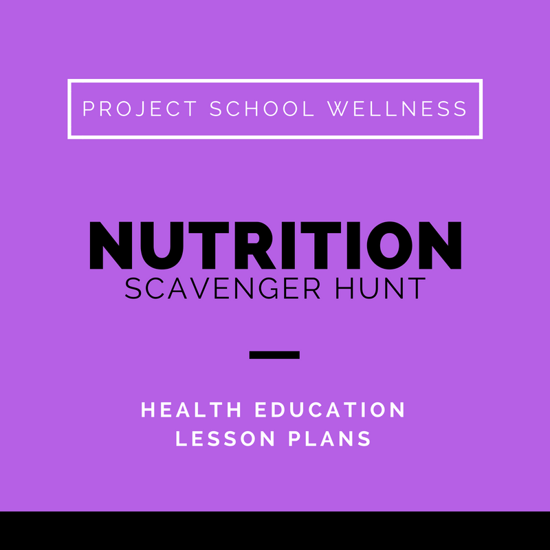 Teach students about nutrition with this engaging scavenger hunt! As students search for clues, they will be introduced to the 12 fundamental nutrition concepts! Your students will never eat the same again after discovery the value and importance of a balanced, health diet. Don't wait to download this health and PE must have!