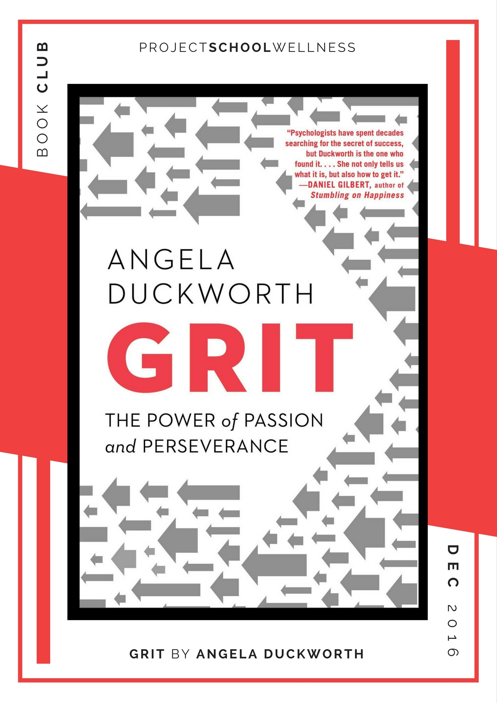 Angela Duckworth, Grit - Project School Wellness' Teacher Book Club, must read books for every teacher!