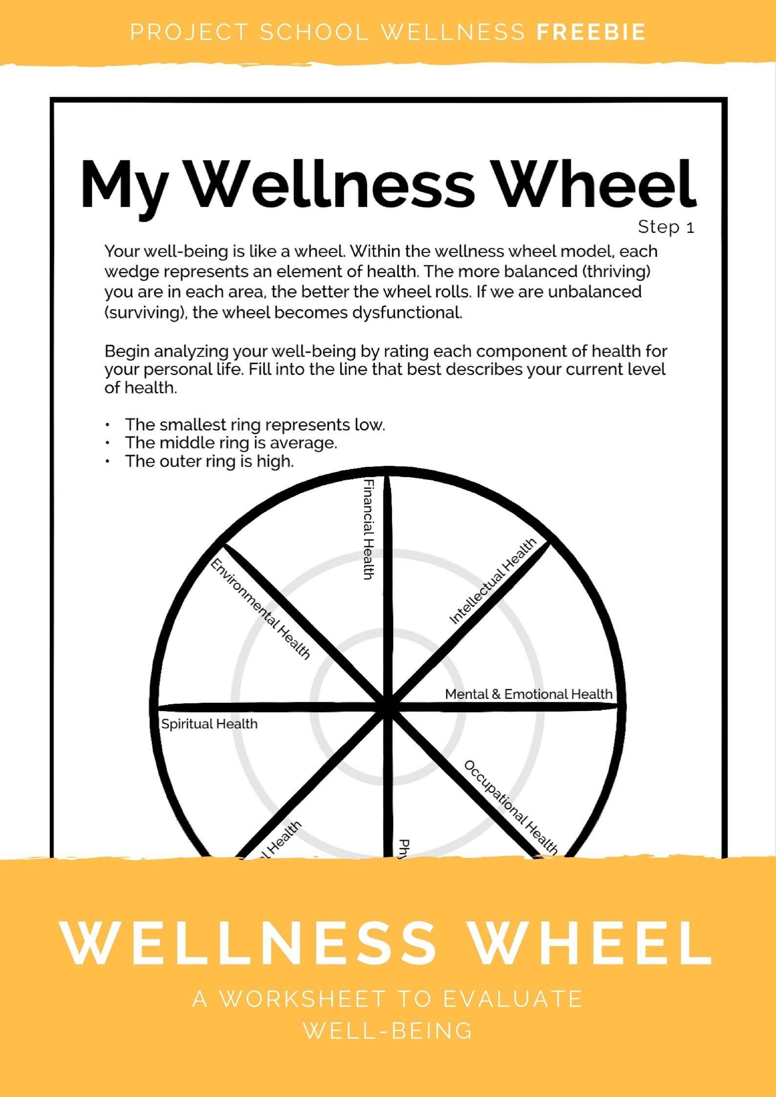 hr diagram worksheet middle school brown bear printables wellness wheel lemonlilyfestival