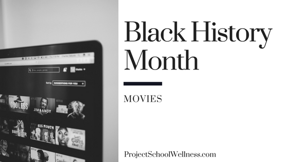 Black History Month - Movies for Teachers. Project School Wellness takes a look at how teachers can facilitate relevant and transformational converstaion centered on Black History in the United States of America. This post shares 20 resources for middle schools teachers to teach students about Black History and to help students take an active role in society!