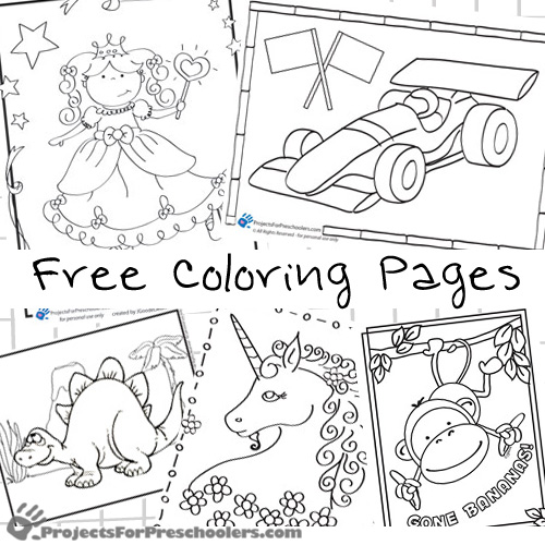 Preschool Coloring Pages Projects For Preschoolers Preschool Coloring Pages
