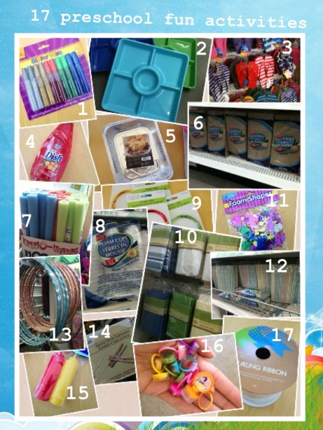 17 preschool project items at the dollar store projects for Dollar store items online