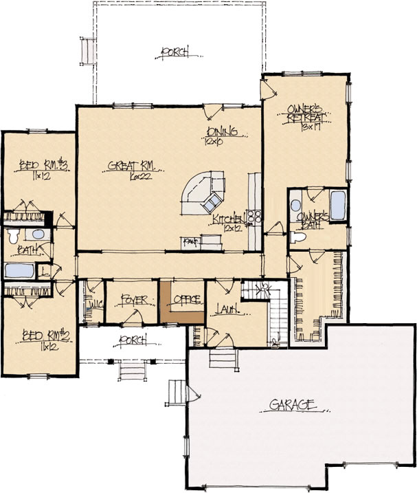 Great Edited Cross Creek Floor Plan, From Schumacher Homes Photo
