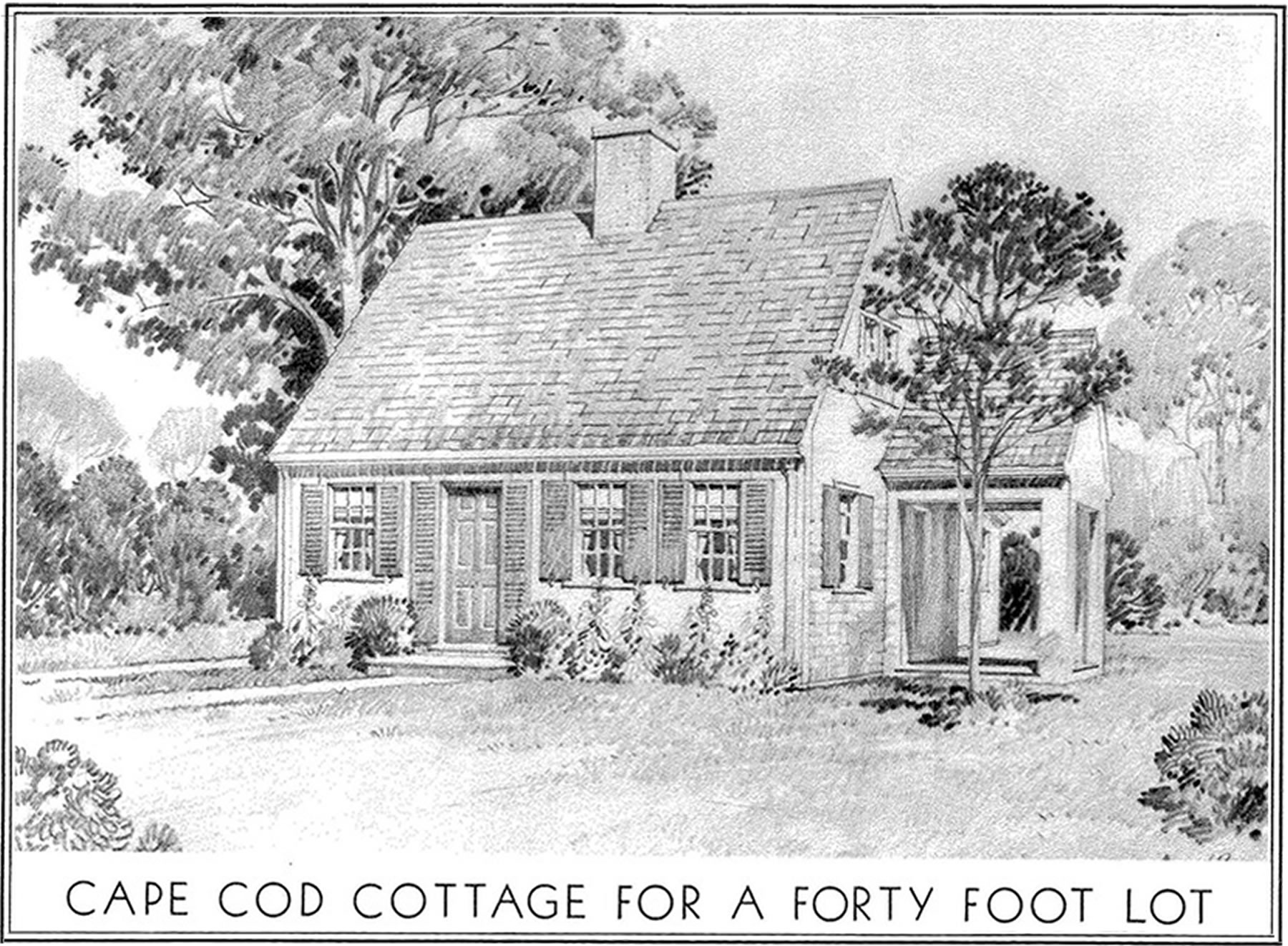 Modern small homes from enduring products of the forests ...  |1948 Cape Cod House Plans