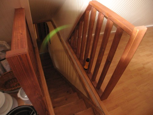 Project: Turning the Attic into a Playroom - Click Lock Floor Railings, so grandchildren don't fall down the stairs