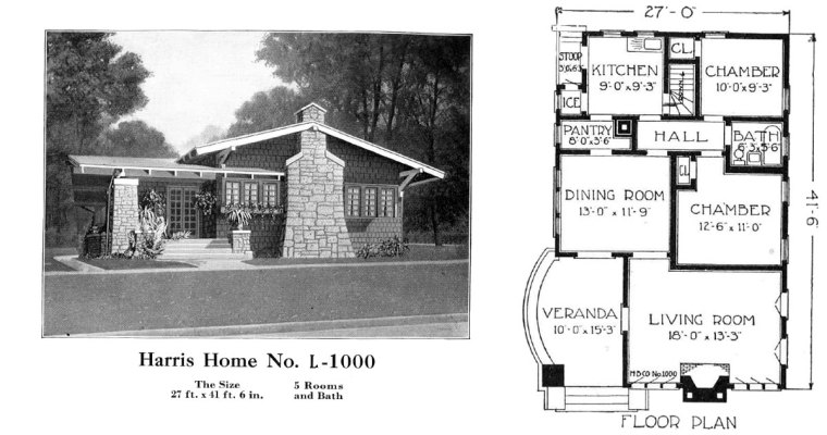 Historic Plans: California Bungalow Harris Home No. L-1000