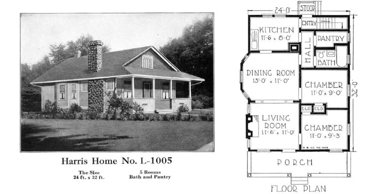 Historic Plans: Popular Bungalow Harris Home No. L-1005