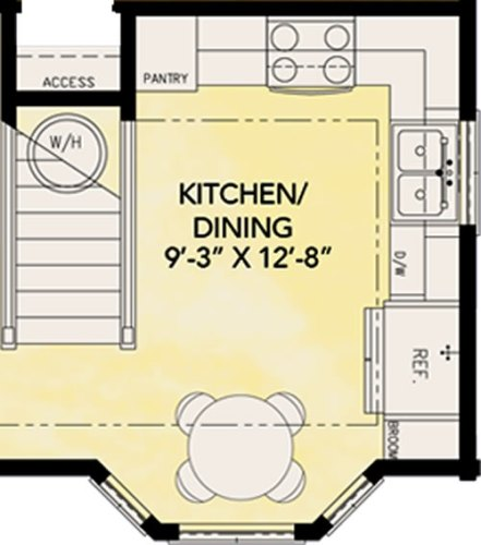 Project Small House: Blue Ridge Cabin River Rock II Kitchen Model Floor Plans