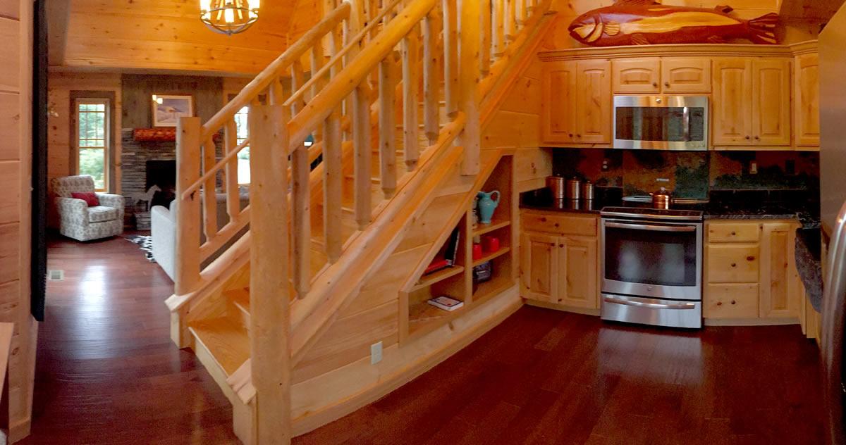 Blue Ridge Cabin River Rock II Kitchen Model