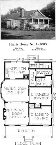 Historic Plans: Popular Bungalow Harris Home No. L-1005