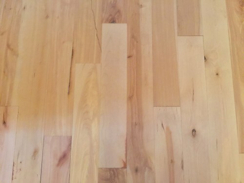 Project Small House - Refinishing Hardwood Floor: Mark was able to perfectly fit in replacement wood.