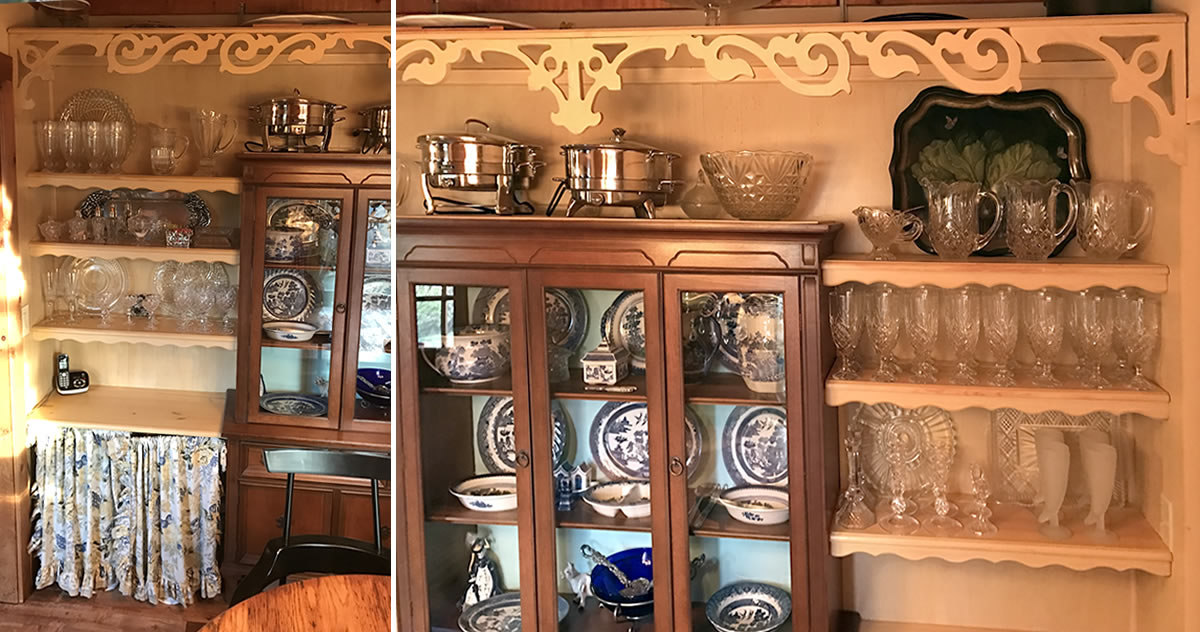 Project: Built In China Cabinet And Dining Room Storage