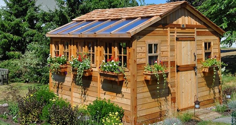Outdoor Living Today Sunshed 12u2032 × 12u2032 Western Red Cedar Shed Kit