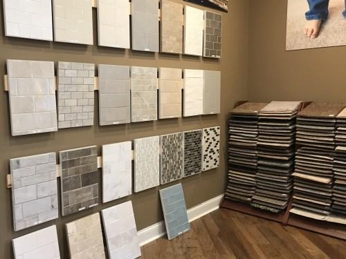 Schumacher Homes Design Studio Back Splash and Carpet Options