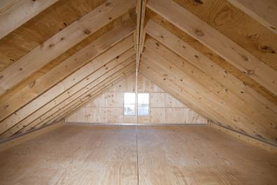Board & Batten Modular Garage with Full Loft